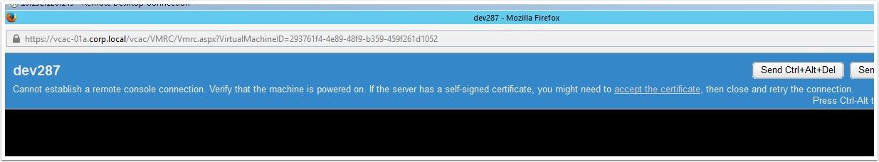 vRA Remote Console Certificate Gotcha | | VMtoCloud com