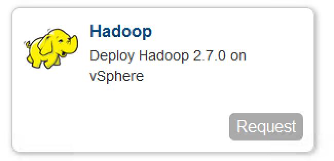 Hadoop as a service blueprint singel node samples vmware