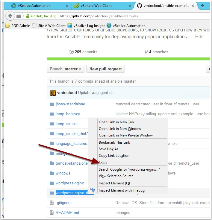 How to use wget and Github with vRealize Automation
