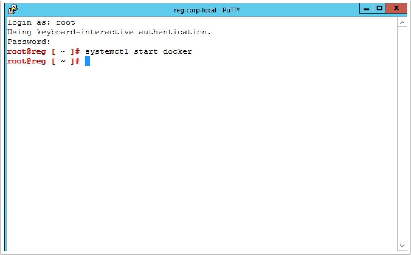 How to install an Enterprise Docker registry on Photon OS
