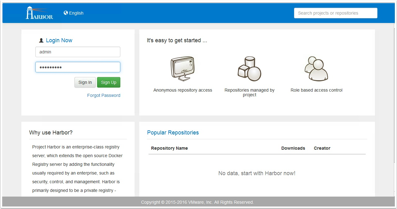 Remote site replicated docker registries with vmware harbor login to your local harbor registry as an administrator malvernweather Images