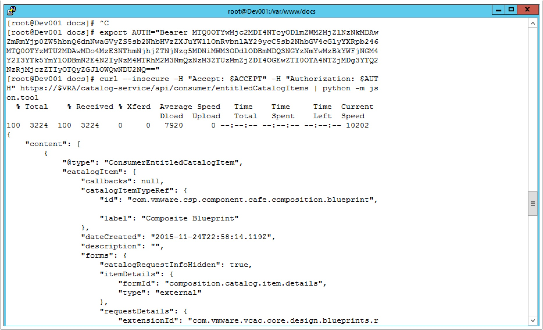 notice i add a pipe on the end of the command this makes the json output more readable python m jsontool