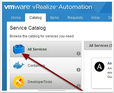 How to change the vRA 7 2 All Services Icon | | VMtoCloud com